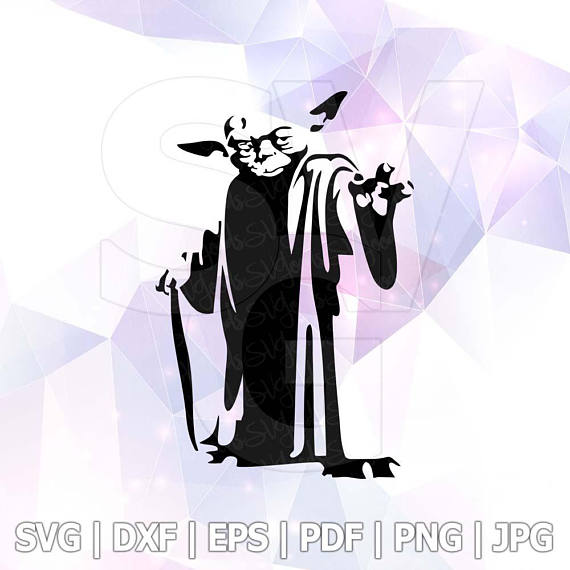 570x570 Svg Star Wars Master Yoda Dxf Png Vector Cut File Cricut