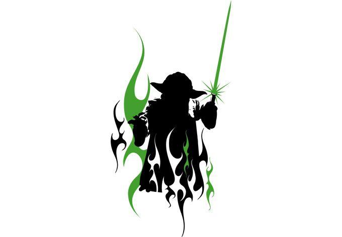 680x472 Yoda Silhouette. Yoda Silhouette. Yodas Dark Side. Yoda Best Dad