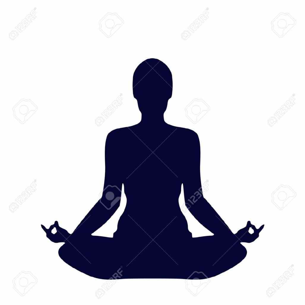 1027x1027 Colored Stylized Yoga Poses Clipart Female Pose Silhouette