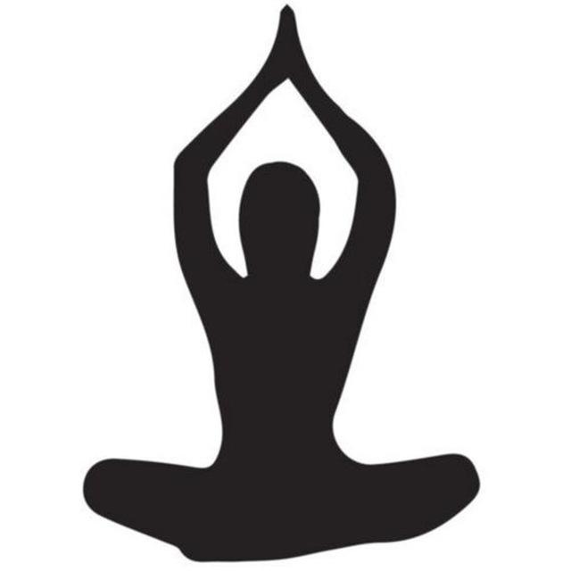 640x640 Sitting Yoga Pose Silhouette Yoga Wall Stickers Gym Home Decor Art