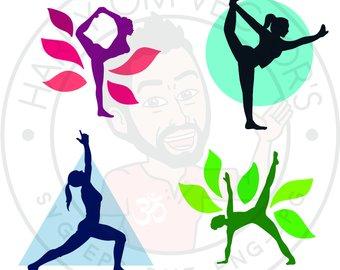 Yoga Silhouette Clip Art