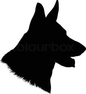 293x320 German Shepherd Head Silhouette German Shepherd