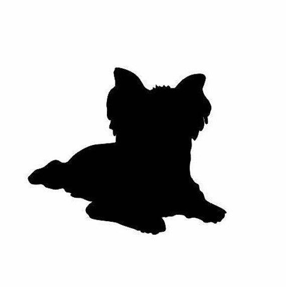 570x572 Yorkie Dog Decal Dog Decals Yorkshire Terrier Dog