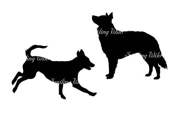 570x403 Mudi Dog Svg Silhouette Running Dog Clipart Printable Vector
