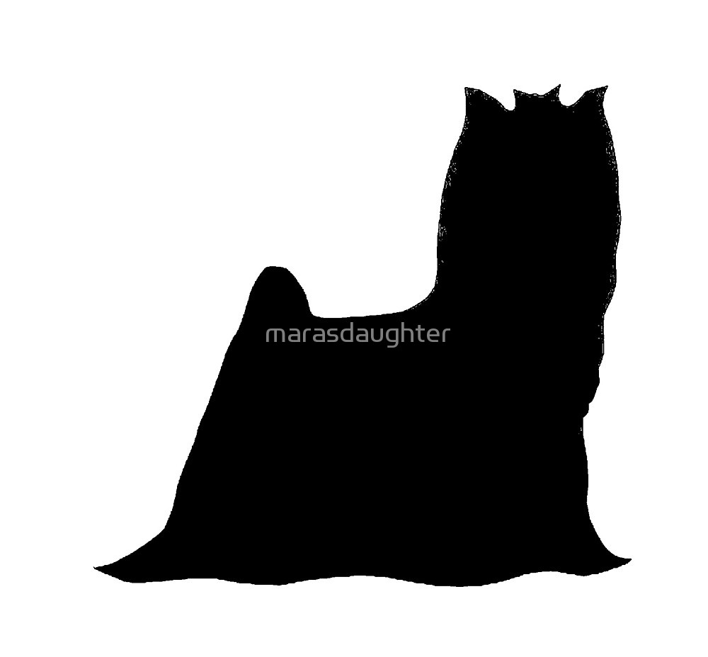1000x928 Yorkshire Terrier Silhouette By Marasdaughter Redbubble