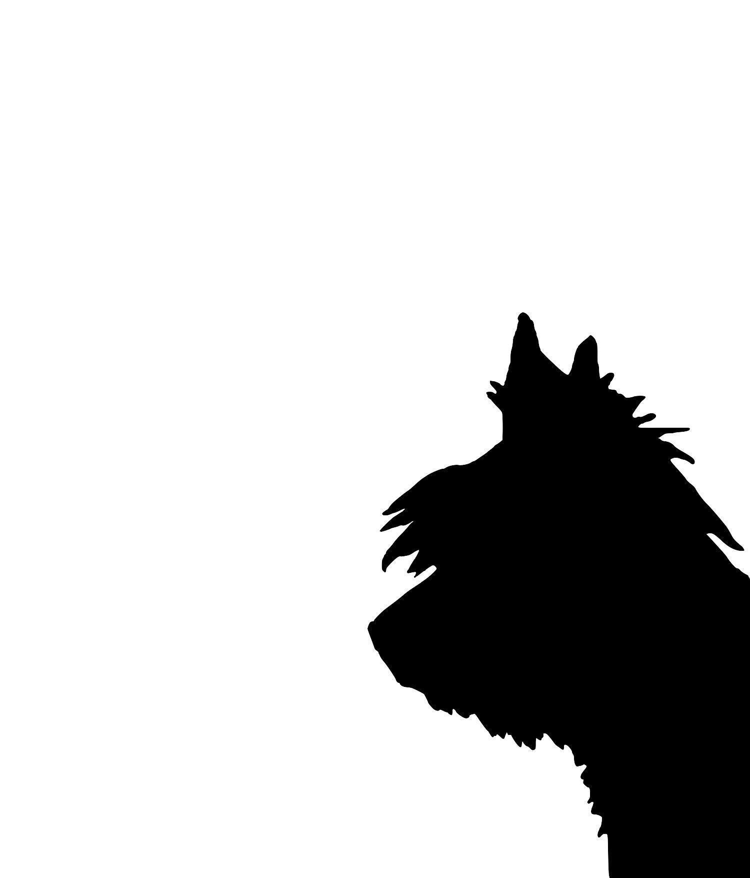 1500x1755 Yorkshire Terrier Silhouette Extra Large Cotton Canvas Tote Bag