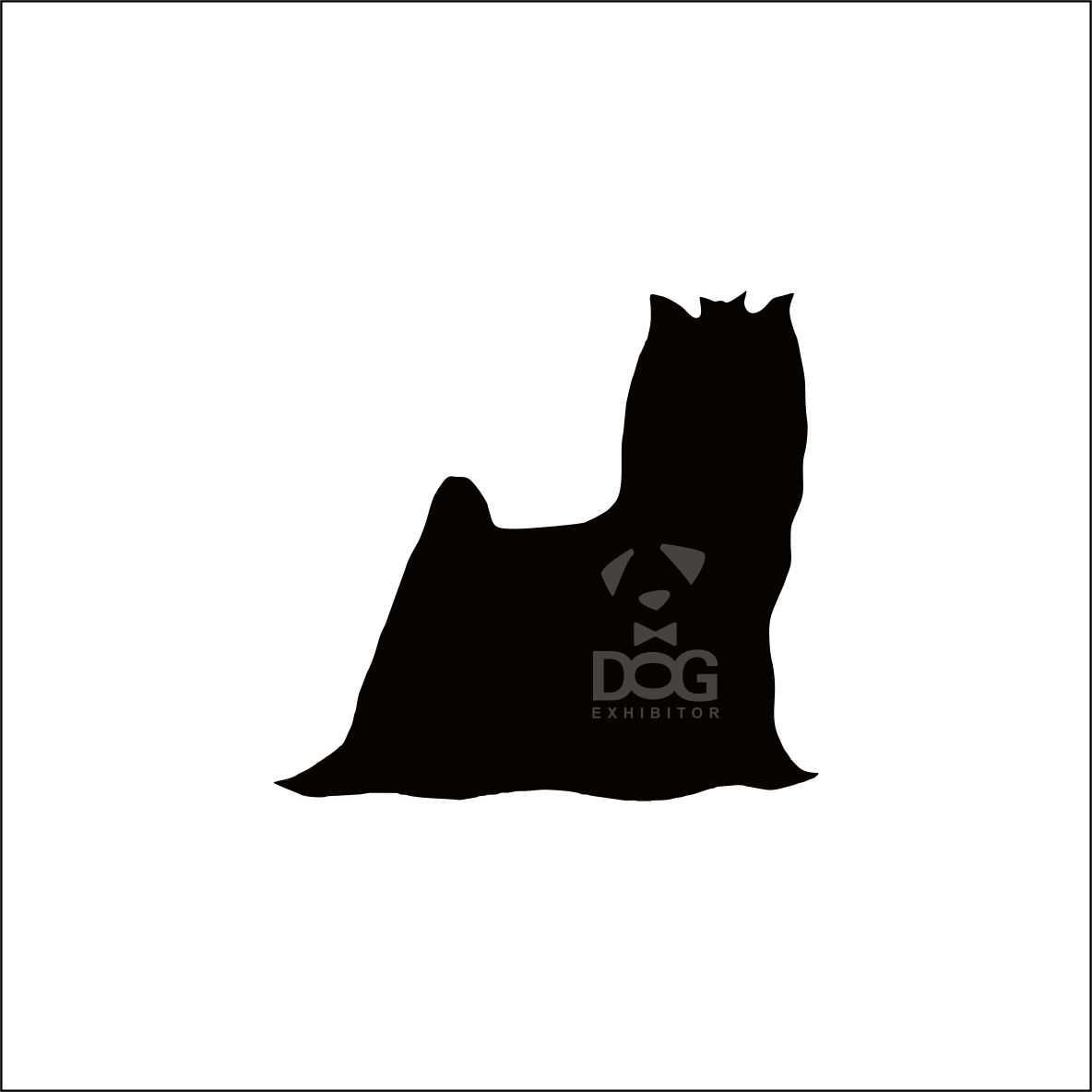 1184x1184 Yorkshire Terrier Silhouette Stickers