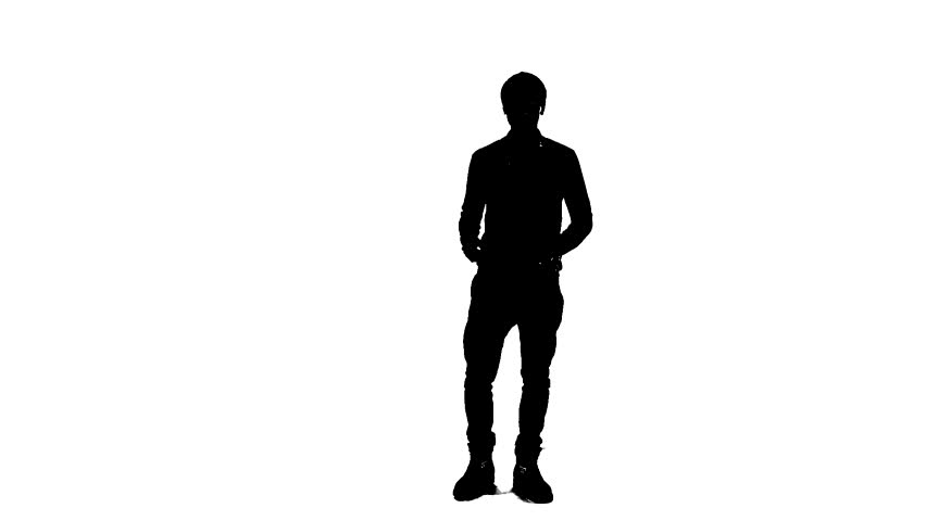 852x480 Silhouette Of Young Man Dancing Stock Footage Video 14046833