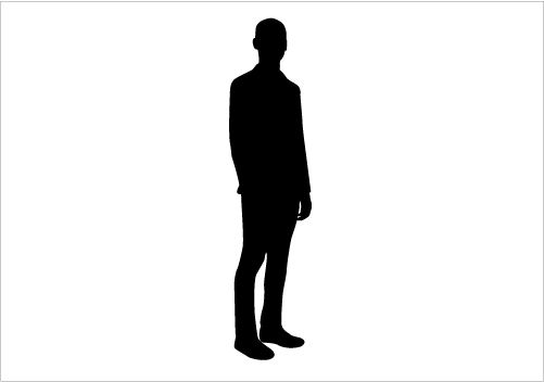 501x352 Young Man Silhouette Graphics Silhouette Graphics