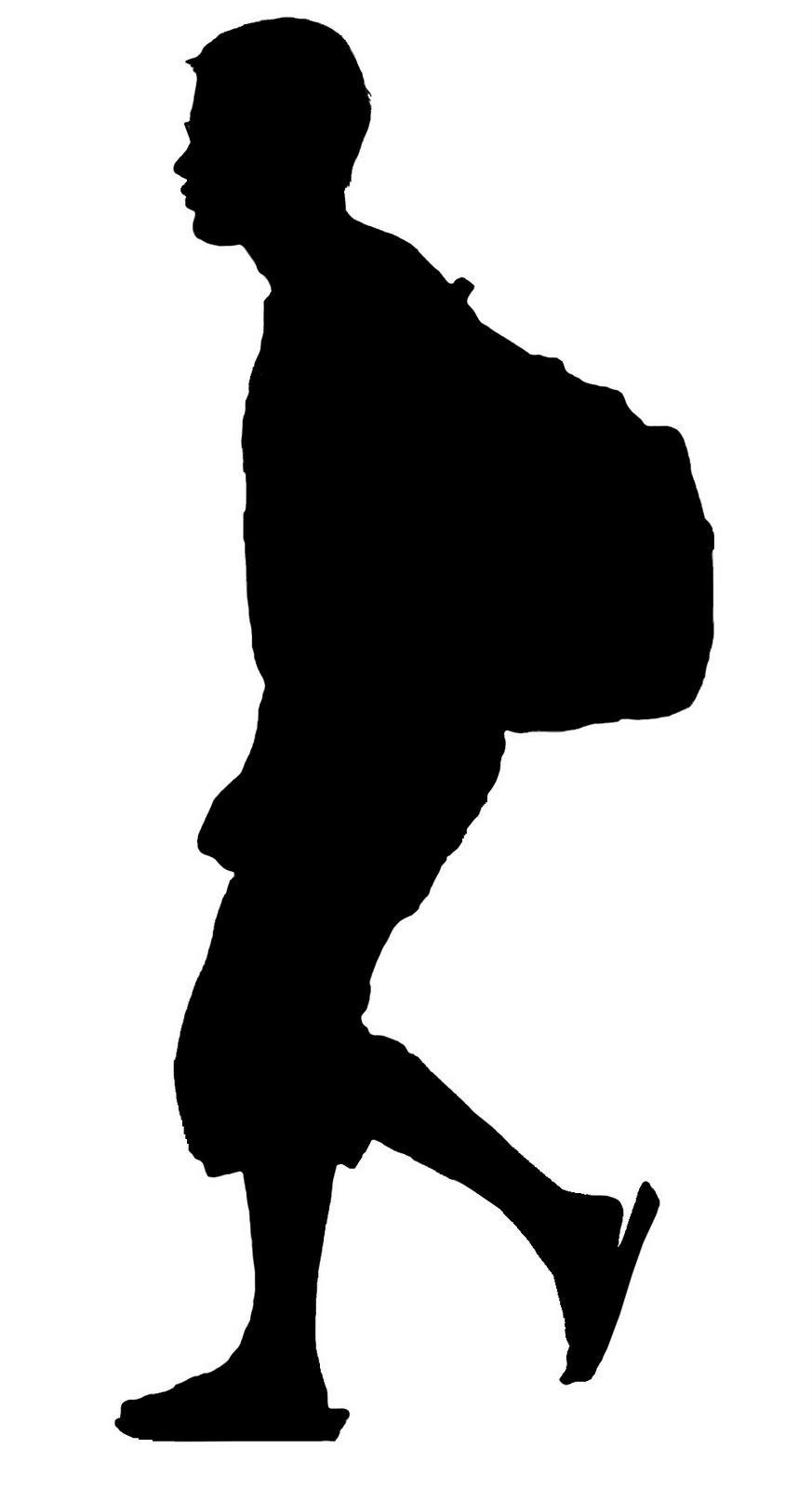 873x1600 Young Man Silhoette Young Man With Backpack Silhouette Invite