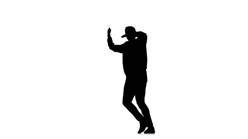 852x480 Cheerful Young Man Dancing Hip Hop Kramp On White Background, Slow