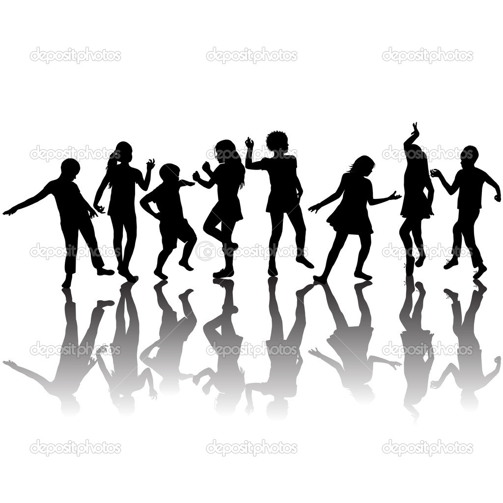 1024x1024 Youth Group Black And White Clipart