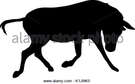 450x280 View On The Silhouette Of A Moving Zebra Stock Vector Art