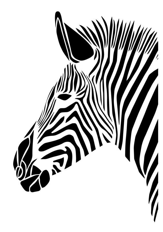 570x814 Zebra Art Print Van Gemmabullendesign Op Etsy Art Zebras