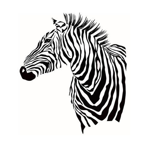 473x473 Animal Illustration Of Vector Zebra Silhouette Posters By Alisared