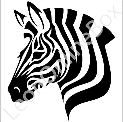 428x426 Zebra Silhouette