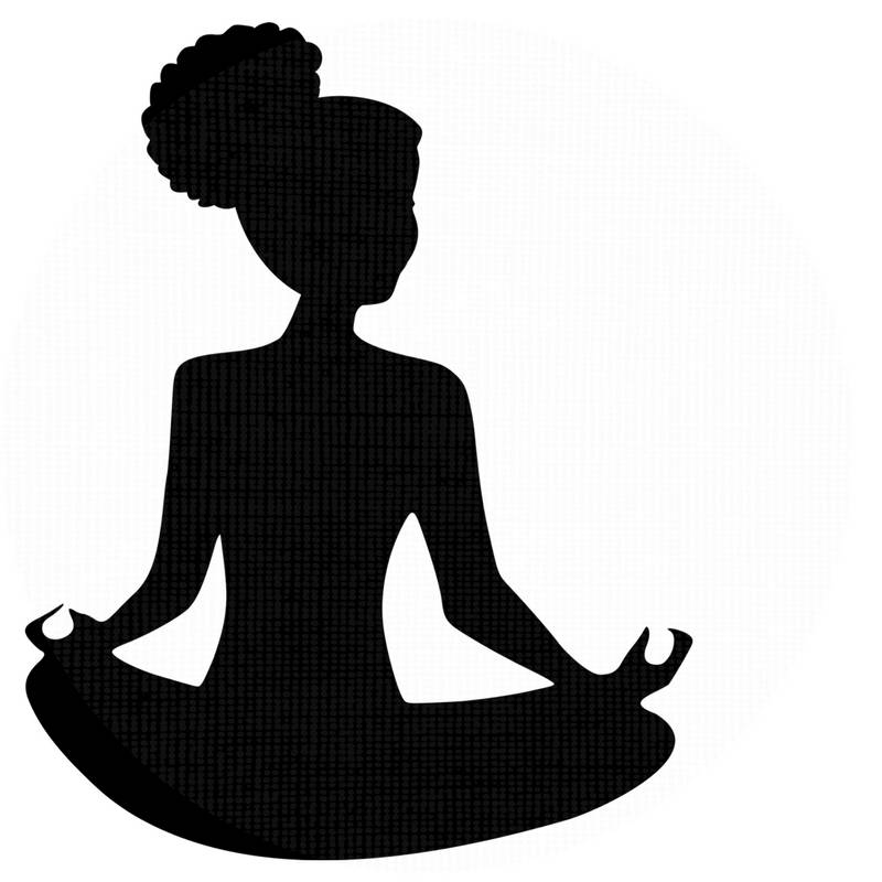 800x800 Meditation Svg Afro Puff Silhouette Yoga Clipart Svg File Natural