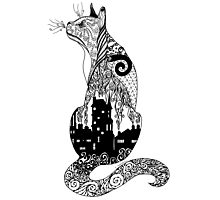 220x200 City Kitty Zentangle Silhouette Ipad Cases Amp Skins By