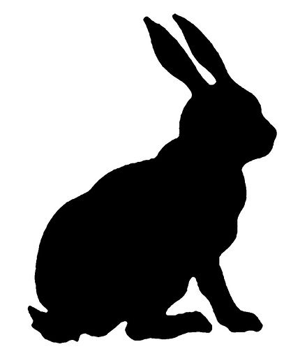 440x500 Rabbit Silhouette Copyright Free Photo Sharing Clipart