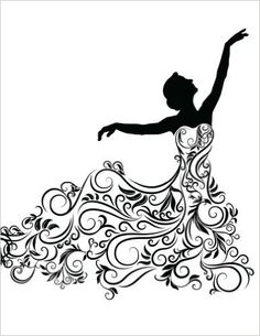 236x305 Vector Silhouette Of Young Woman In Elegant Wedding Dress Stock