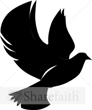 323x388 Flying Dove In Silhouette Dove Clipart