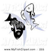 164x175 Royalty Free Silhouette Stock Fish Designs