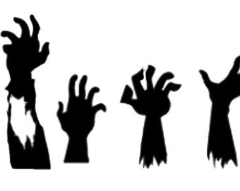 340x270 The Walking Dead Decal With Zombie Hands Perfect For A Yeti