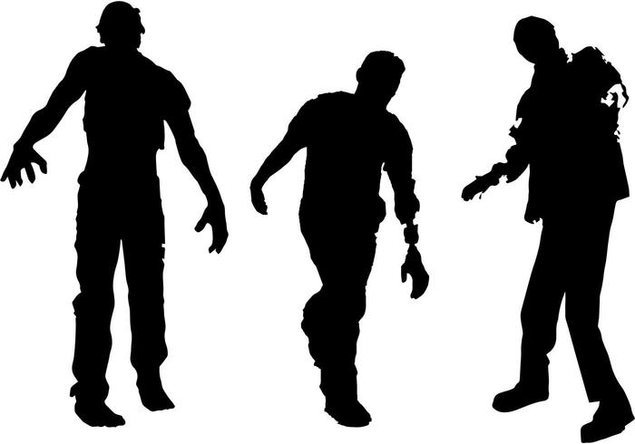 700x490 Free Zombie Silhouette Vector