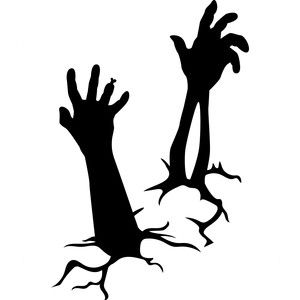 300x300 Zombie Arms Silhouette Design, Silhouettes And Arms