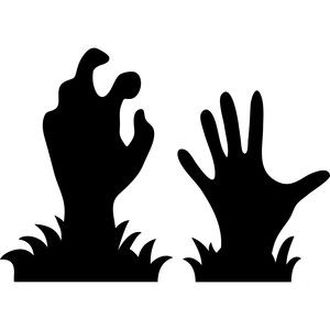 300x300 Zombie Hands Silhouette Design, Silhouettes And Cricut
