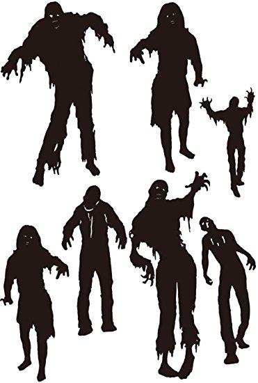 371x550 Decorative Wall Art Zombie Horde Invasion Peel