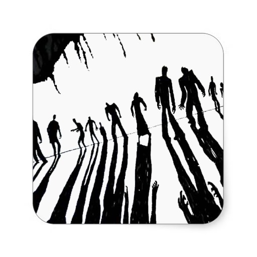 512x512 Zombie Horde Clipart