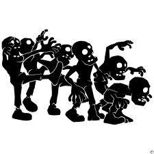 225x225 Buy 2 Get 1 Free! Digital Clipart Zombie Silhouettes, Walking Dead