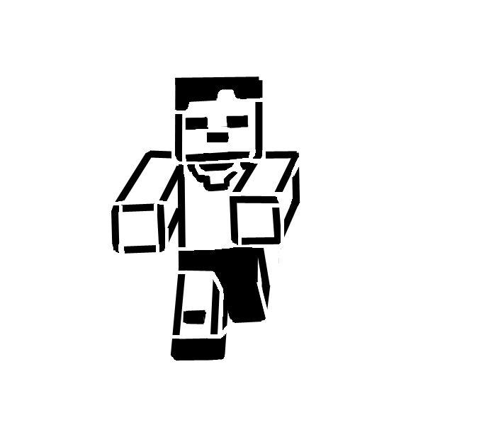 700x624 Minecraft Zombie Pumpkin Stencil