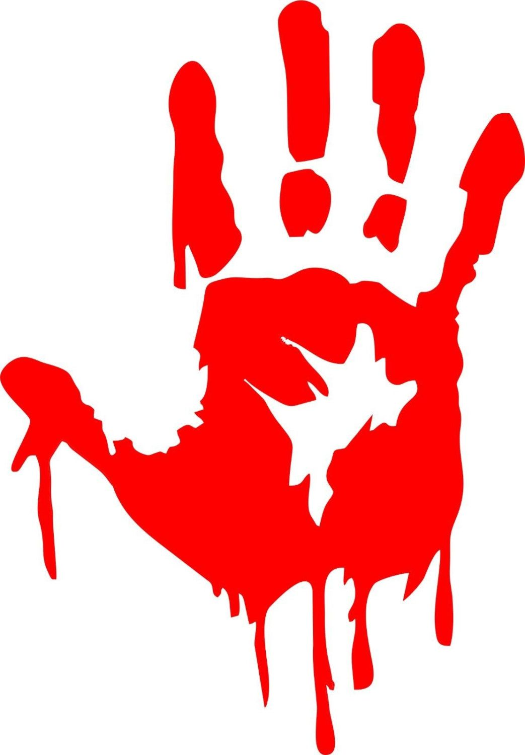 1043x1500 Zombie Bloody Hand Decal Item Details Decals