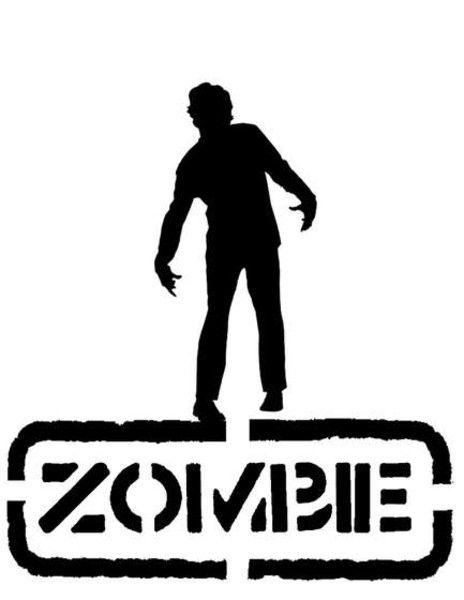464x600 Zombie Stencil