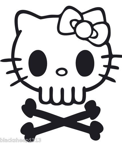 427x500 Dead Hello Derby Zombie Skull Cross Bones Decal