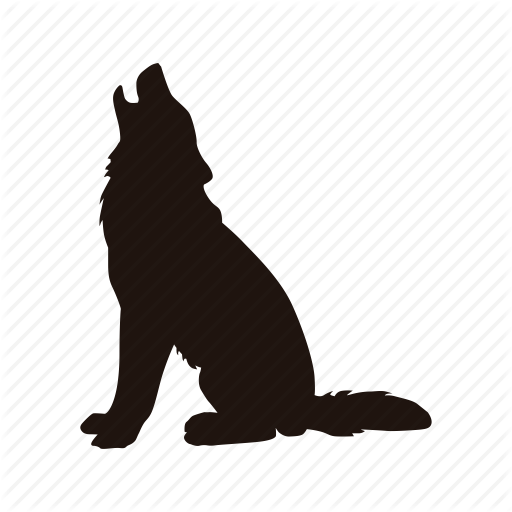 512x512 Dog, Howl, Wolf, Zoo Icon Icon Search Engine