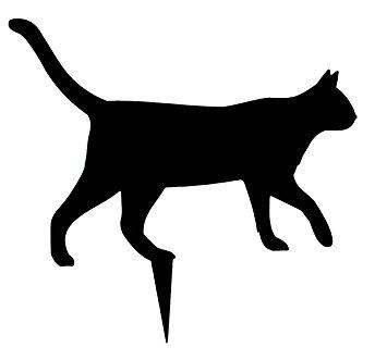 355x331 Lawn And Garden Decoration Zorro Silhouette Cat