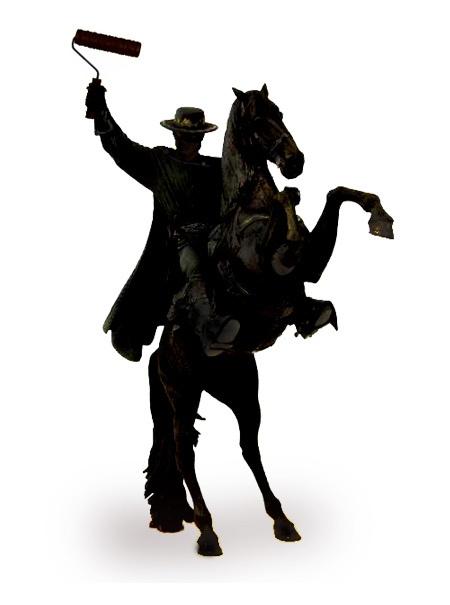 450x605 Crackade Instant Classic Banksy Roller Zorro Bronze Sculpture