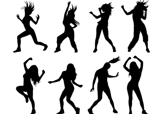 632x443 Set Of Zumba Silhouettes Free Vector Download 398997 Cannypic