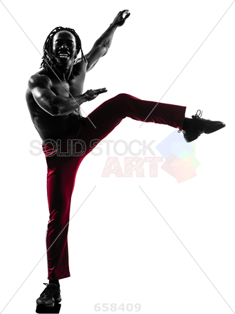 340x455 Stock Photo Of One African Man Exercising Fitness Zumba Dancing
