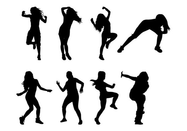 632x443 Free Zumba Dance Silhouettes Vector Free Vector Download 399925