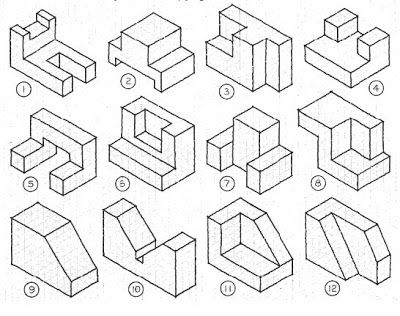 3 Views Of Isometric Drawing