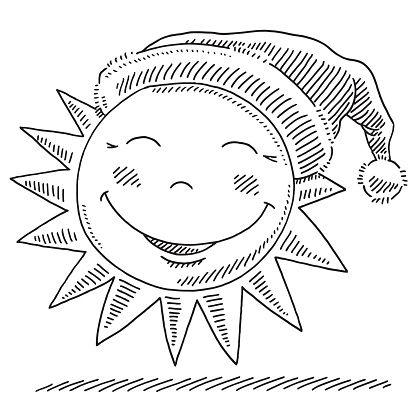 416x416 Happy Winter Sun porte les conclusions de la conception du motif du bonnet de Noel