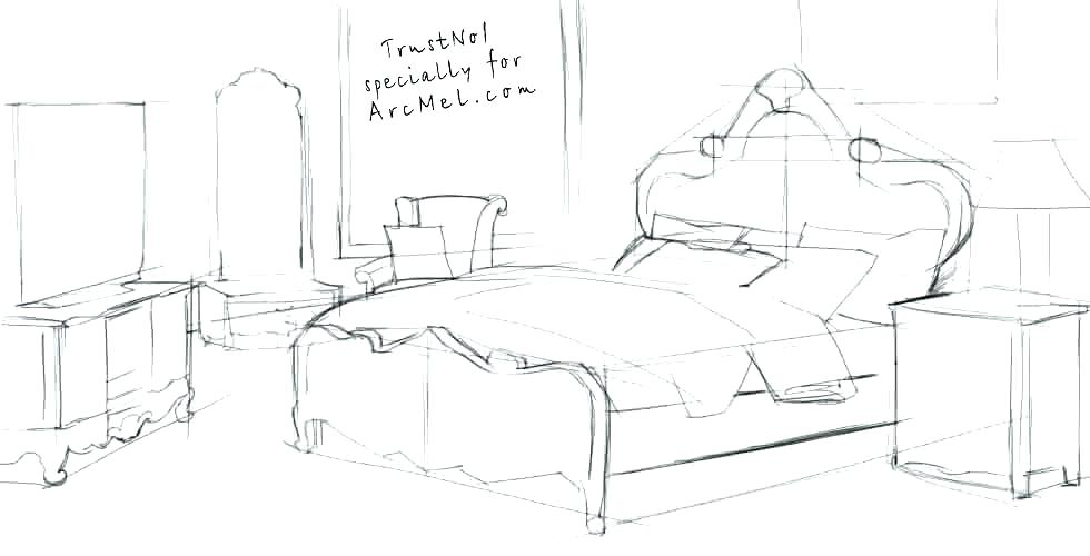 980x500 How To Draw A Bed Photo 4 Of 6 How To Draw A Bed Mattress Bed