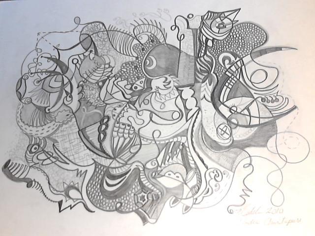 640x480 Amritapuri Pencil Drawing