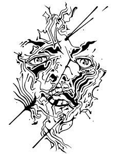 232x300 Abstract Eye Drawings