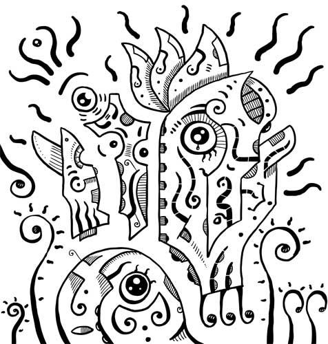 476x500 Black Amp White Surrealism Eyes Drawing Sotuland Art