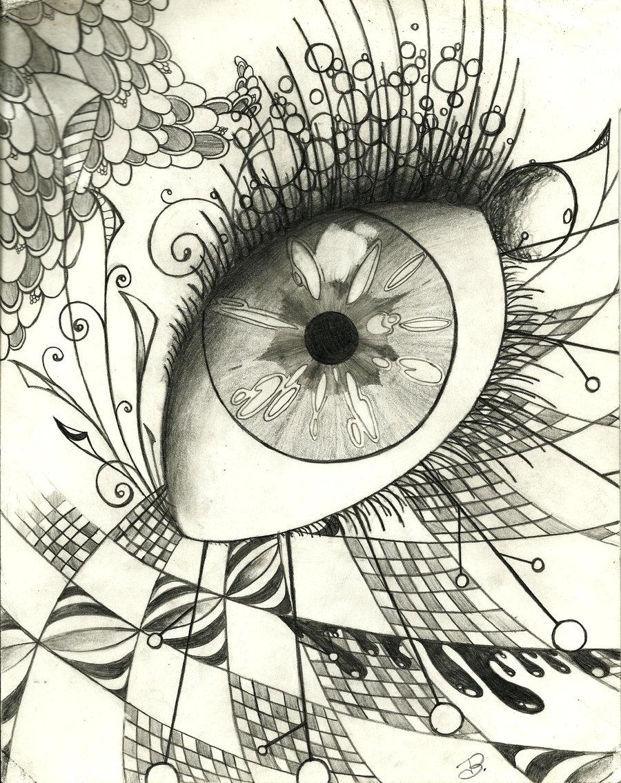 900x1135 Doodle Eye By Znnai